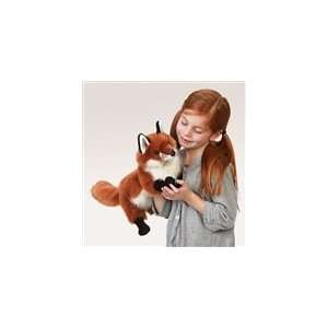 Stuffed Red Fox Puppet With Full Body By Folkmanis Puppets