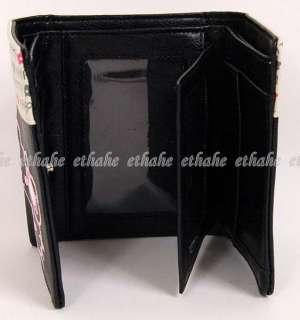 Hello Kitty Trifold Mini Wallet Card Holder Black I7SW