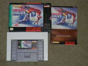 WINTER OLYMPIC GAMES SNES SUPER NINTENDO COMPLETE***