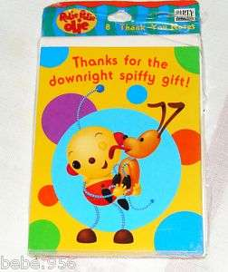 ROLIE POLIE OLIE 8 THANK YOU NOTES PARTY SUPPLIES