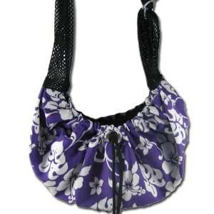 Sling Pet Carrier   Purple & White Hawaiian Pet