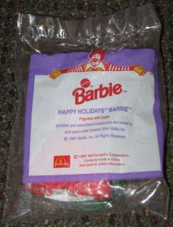 1997 Happy Holidays Barbie McDonalds Happy Meal Toy
