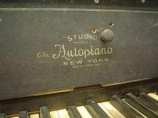 Antique Autopiano Upright Player Piano, mahogany