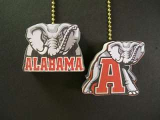 ALABAMA BAMA CRIMSON TIDE CEILING FAN PULLS