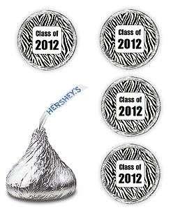 108 ZEBRA PRINT GRADUATION PARTY CLASS OF 2012 FAVORS KISSES CANDY